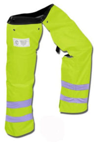 Protective clothing for chainsaw users