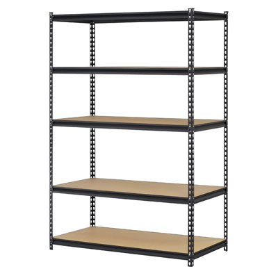 Edsal Black Steel Storage Rack shelving unit